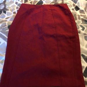 Halogen Cranberry Size 0 pencil skirt (runs big)